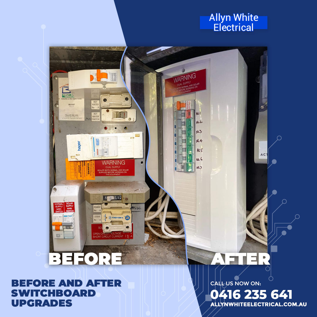 upgrade your old switchboard in brisbane - contact allyn white electrical for any electrical emergency services